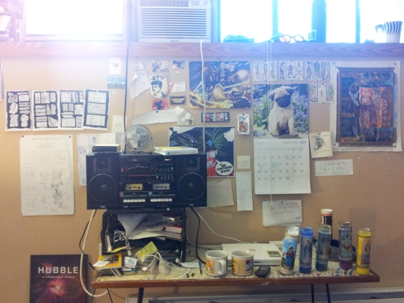 My work-space.