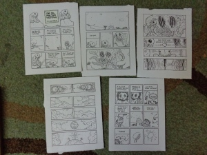 The working pages for my story.